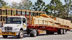 Panel-Tek wood roof truss delivery